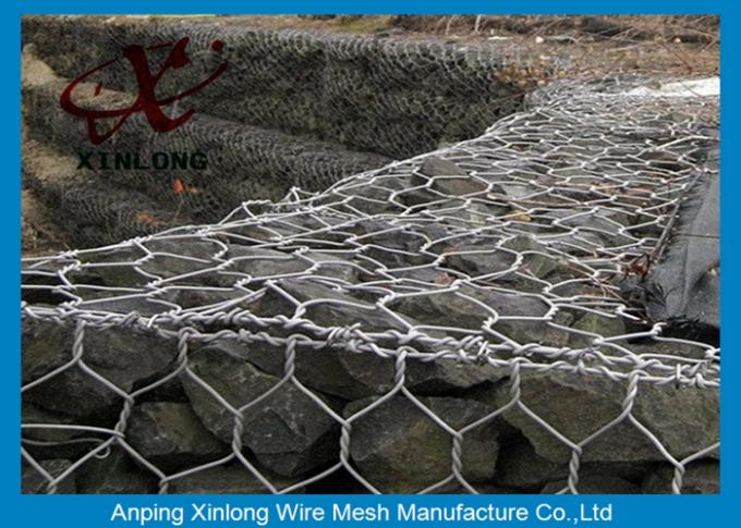 Economical Hexagonal Wire Mesh Gabion Wall Fence OEM / ODM Available