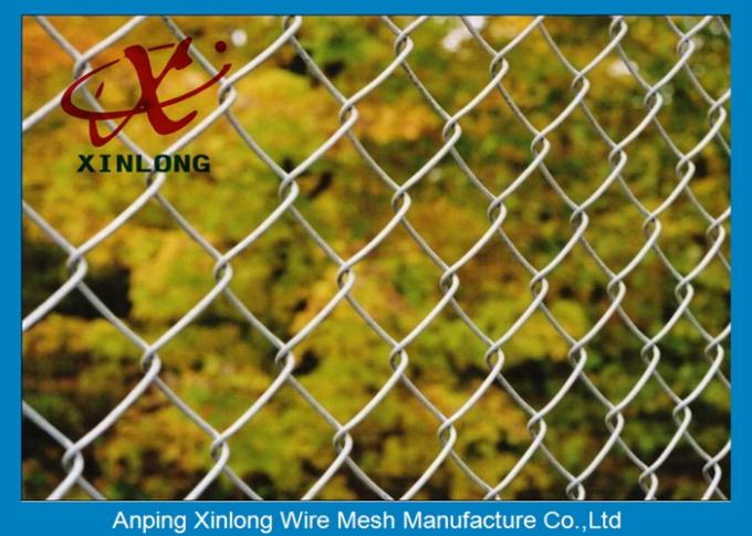 Galvanized Steel Chain Link Fence Diamond Wire Mesh Fence Privacy Fence