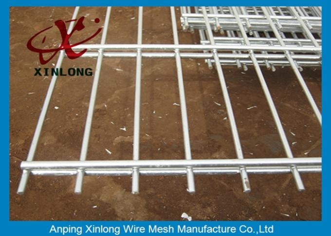 Double PVC Coated Wire Mesh Fencing For Country Border Twin Wire Welded Mesh Fence