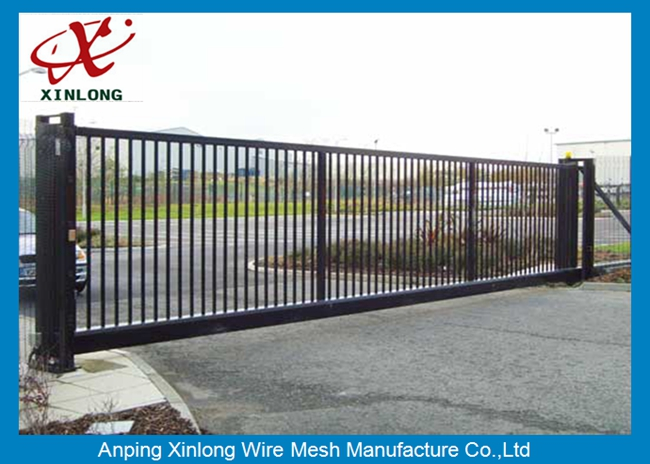 Weather Proof Automatic Fence Gate , Sliding Metal Gates Corrosion Protection