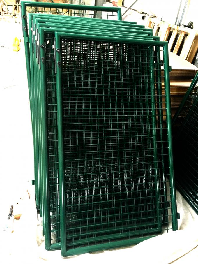 Extraordinary Design Welded Fence Gate For Warehouses / Logistics Bases 4.5mm