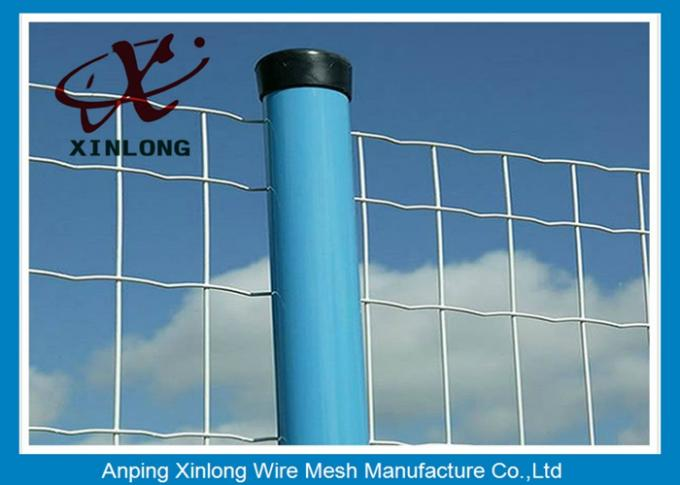 PVC Coated Galvanized Welded Wire Mesh Rolls Anti Corrosion 10-30m Length
