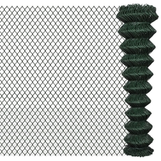China 2×25m Black Galvanized Chain Link Fence PVC Coated OEM / ODM Available supplier