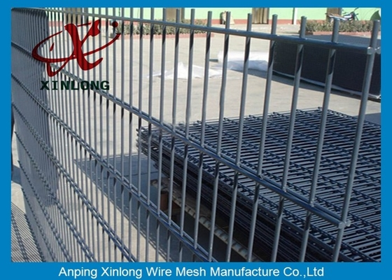 China Hot Dipped Galvanzied Welded 656 Double Wire Mesh / Industrial Security Fencing supplier