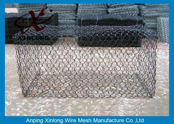 China Green Silver Welded Mesh Gabions Wire Cages For Rock Retaining Walls supplier