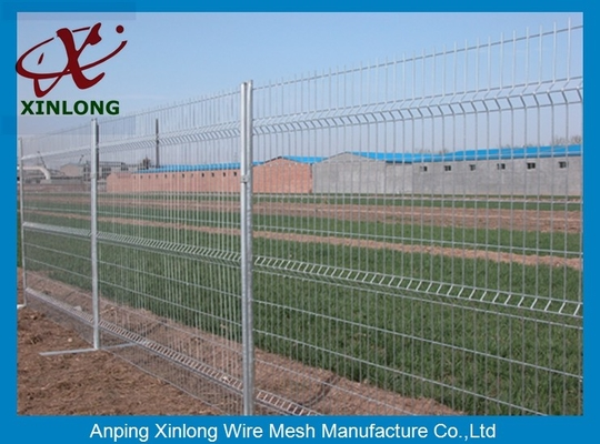 China 3D Curved Green Pvc Coated Wire Mesh Fencing For Highway Sport Field Garden supplier