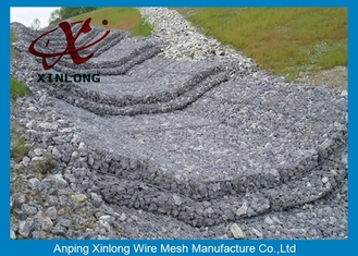 China Xinlong Stone Cage Gabion Wire Mesh Various Lengths / Widths / Heights supplier