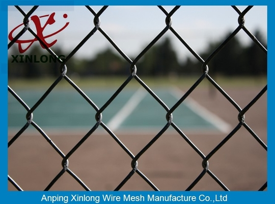 China Low Carbon Steel Wire Chain Link Security Fence With Round Post supplier