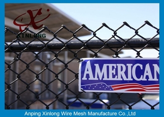 China Galvanized Steel Chain Link Fence Diamond Wire Mesh Fence Privacy Fence supplier