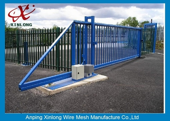 China Weather Proof Automatic Fence Gate , Sliding Metal Gates Corrosion Protection supplier