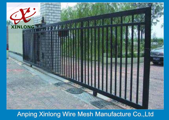 China Professional Automatic Sliding Gates Galvanized Pipe Material 1m Height supplier