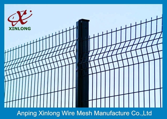China 4.0mm Wire Welded Wire Mesh Fence Powders Sprayed Coating Dark Green 2.4m Width supplier