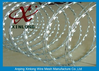China Concertina Galvanized Razor Barbed Wire For Highway / Farm / Garden supplier