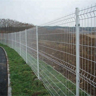 China 200*50mm Wire Mesh Fence PVC Coated 3D Curved For Farm 0.635m-2.435m Length supplier