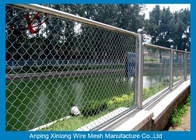 Powder Coated Playground Diamond Wire Mesh Fence For Park / Zoo