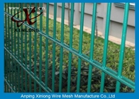 China Convenient Installation Double Loop Wire Fence / Green Pvc Coated Wire Mesh Fencing factory