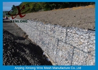China Hot Dipped Galvanized Gabion Box , Welded Gabion Baskets For Riverbed factory