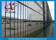 Powder Coated Twin / Double Wire Fence 200*50mm Wire Mesh Fence For Country Border