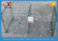 6 * 8cm Heav Duty Gabion Wire Mesh / Hexagonal Wire Cages For Rock Retaining Walls