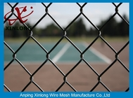 China Green PVC Coated Chain Link Fence 50*50mm Fence Screen for Tennis Court factory
