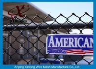 China Galvanized Steel Chain Link Fence Diamond Wire Mesh Fence Privacy Fence factory