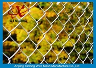 Dark Green 40*40mm Galvanized Chain Link Fence For Forest Protecting And Building Site