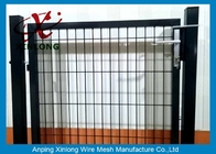 China Black Powders Sparyed Coating Welded Wire Fence Gate With Square Post company