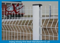 Galvanized Steel Security Outdoor Welded Wire Mesh Fence 1.8m Height