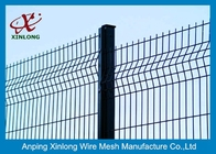 China 200*50mm 3D Curved Welded Wire Mesh Fence For Airport / Sport Court Security factory