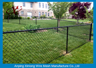 China Black Galvanized Chain Link Fence / Pvc Coated Welded Wire Fencing factory