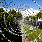 China CBT BTO Razor Security Barbed Wire for Railway and Lawn with Single / Cross Coil company