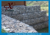 Galfan Galvanized Gabion Box , Gabion Wall Baskets For Riverbed Garden