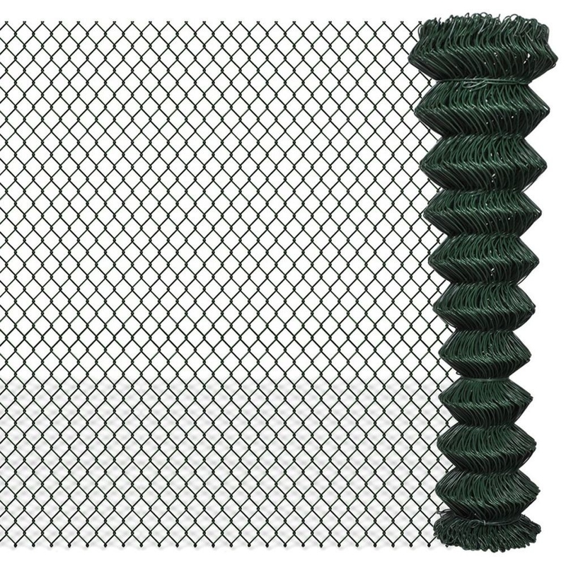 2×25m Black Galvanized Chain Link Fence PVC Coated OEM / ODM Available