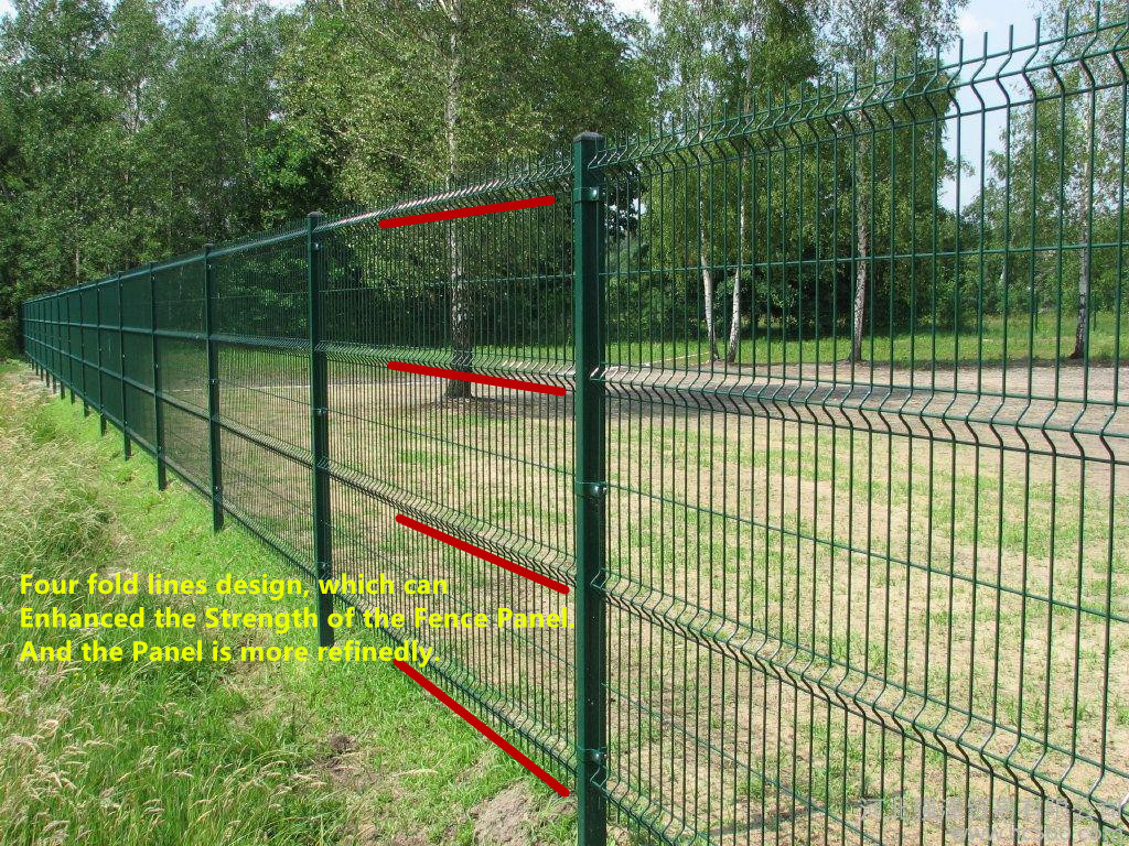 Green Black Vinyl Coated Welded Wire Fencing Railway
