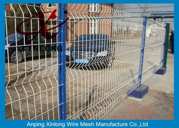 3D Curved Vinyl Coated Welded Wire Fence Panels For Sport Field ...