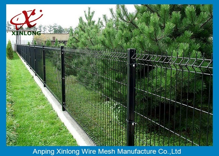 Farm Welded Wire Garden Fence Black Mesh Sheets Ral9005 200 50mm