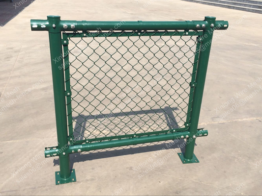 PVC Chain Link Fence for Tennis Soccer Field Court Yard and Garden