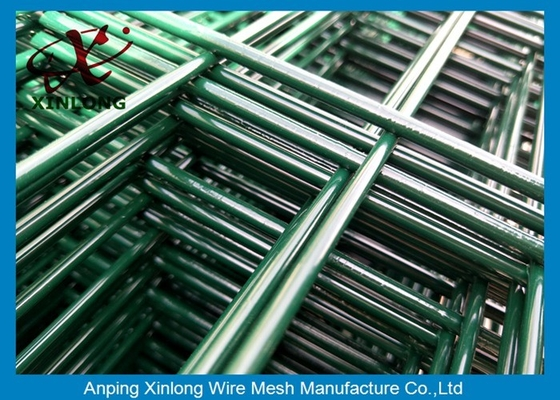 Powder Coated 2D Double Horizontal / Vertical Wire Mesh Fence , Double Loop Wire Fence