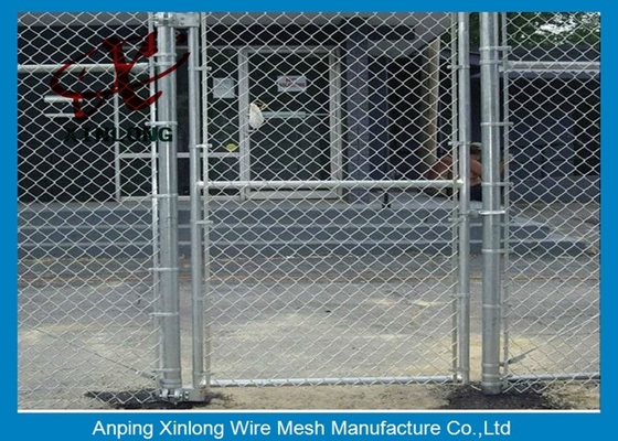 Diamond Hole Chain Link Mesh Fence Galvanized Wire Mesh For Sports Ground Barrier