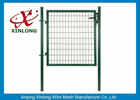 Beautiful Design Welded Fence Gate Iron Wire Material Convenient Installation