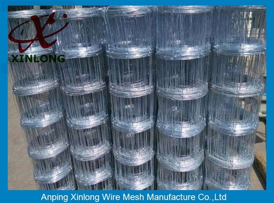 Multi Function Galvanized Sheep Fence 0.8 - 2.3m Height / High Tensile Field Fence