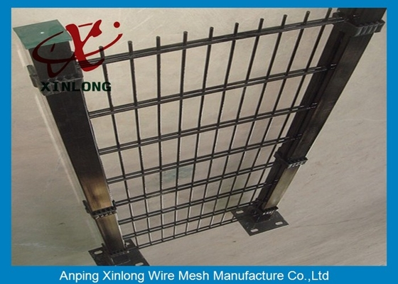 Double PVC Coated Wire Mesh Fencing For Country Border Twin Wire Mesh Fence