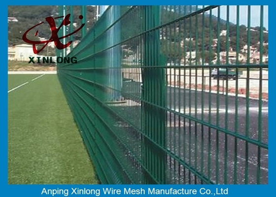 Durable 656 868 Double Wire Fence Dark Green Color Fit High Security Area