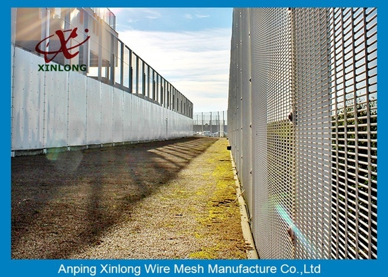 Anti Cutting 358 High Security Fence / Security Mesh Fence For Military Base
