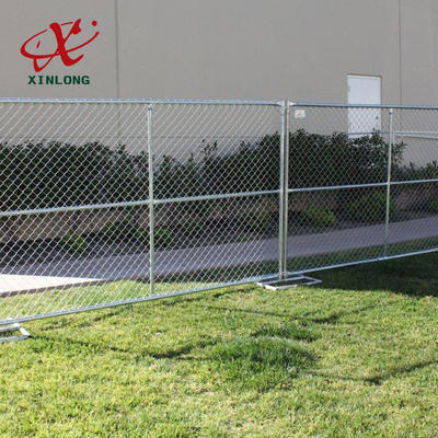 Portable Outdoor Temporary Security Fence Panels Metal Iron Material