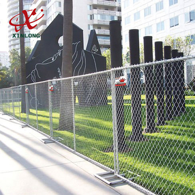 Professional Temporary Chain Link Fence Panels For Sports Field / Construction Site