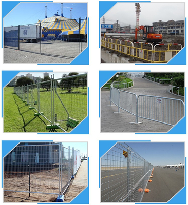 Building Site Temporary Fencing Panels , Temporary Event Fencing 32mm 38mm Frame Dia
