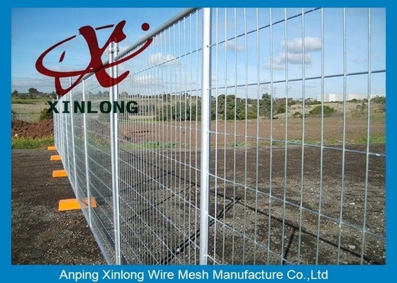 Security Temporary Fencing Panels Welded Wire Mesh Fence Metal Base Temporary Site