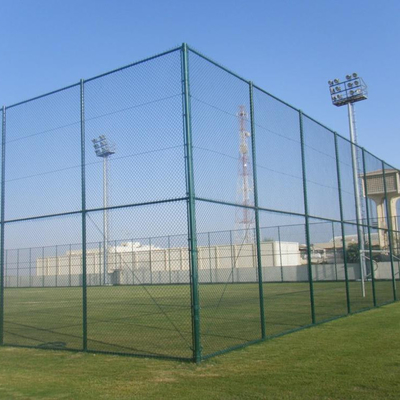 200*50mm PVC Coated Chain Link Mesh Fence Panels For Playground