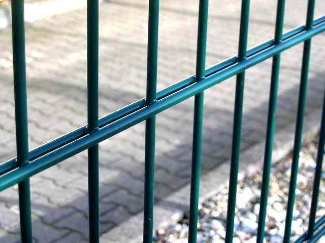 Powder Station Double Wire Fence / Twin Wire Mesh Fencing High ...